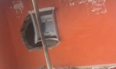 Thieves allegedly burgle ATM in UNIOSUN (video)