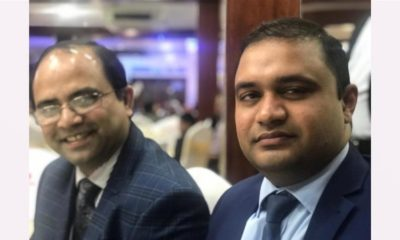 Chowdhury, left, is the latest British doctor to die of coronavirus. He is pictured here with his friend, Dr Adnan Pavel, on the right [Courtesy: Adnan Pavel]